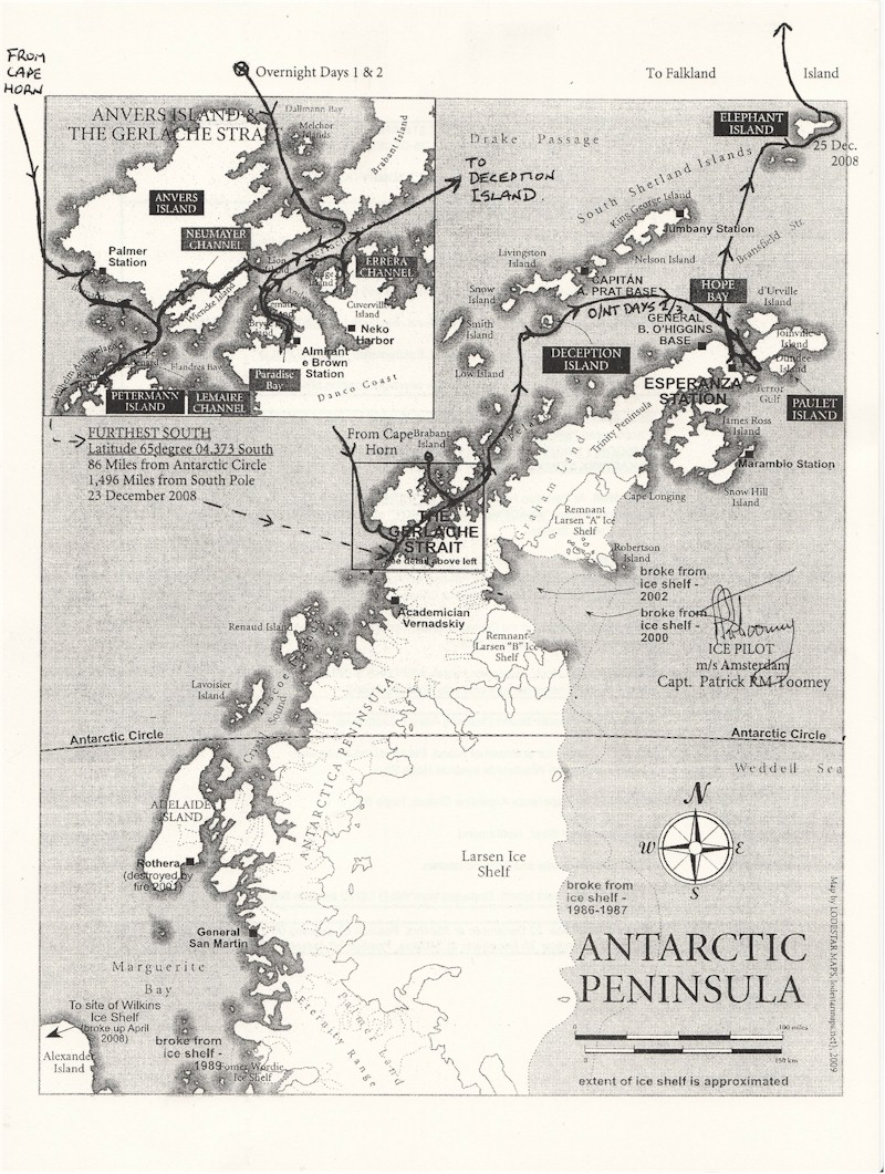 Antarctic Peninsula Map Antarctic Peninsula